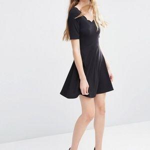 ASOS Mini Skater Dress With Scallop Neckline 4